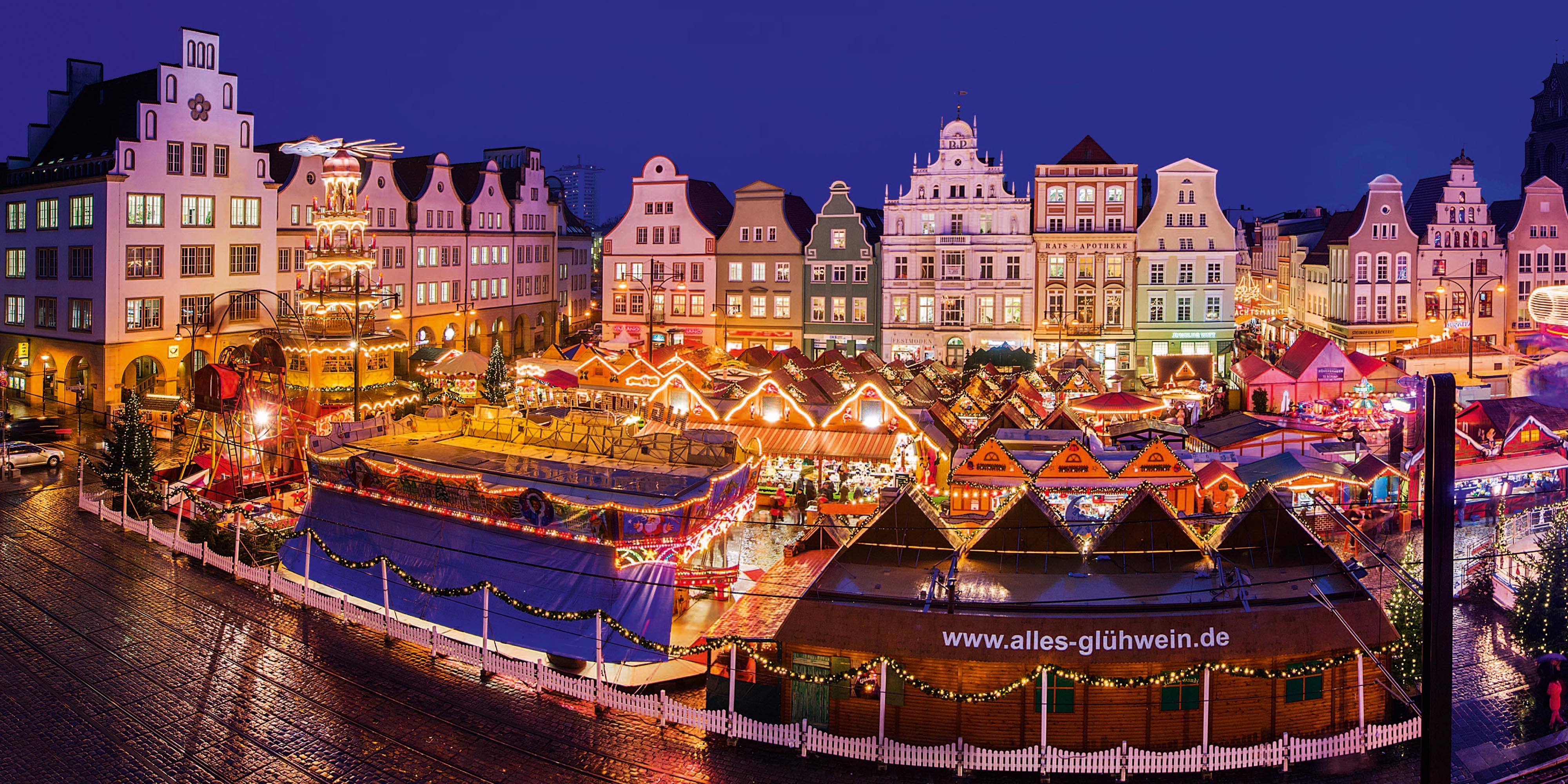 Weihnachtsmarkt In Rostock.Historischer Weihnachtsmarkt Rostock